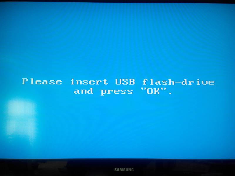 Insert USB flash-drive